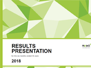 Results presentation for the year ended 30 June 2018