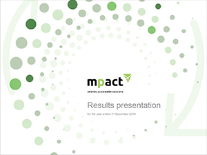 Mpact Results presentation for the six months ended 30 June 2020 [icon]